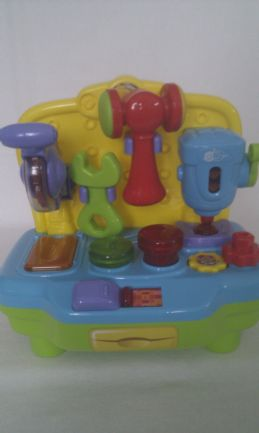 Adorable My 1st Baby 'Work Bench & Tools' Lights up & Sounds Sturdy Toy